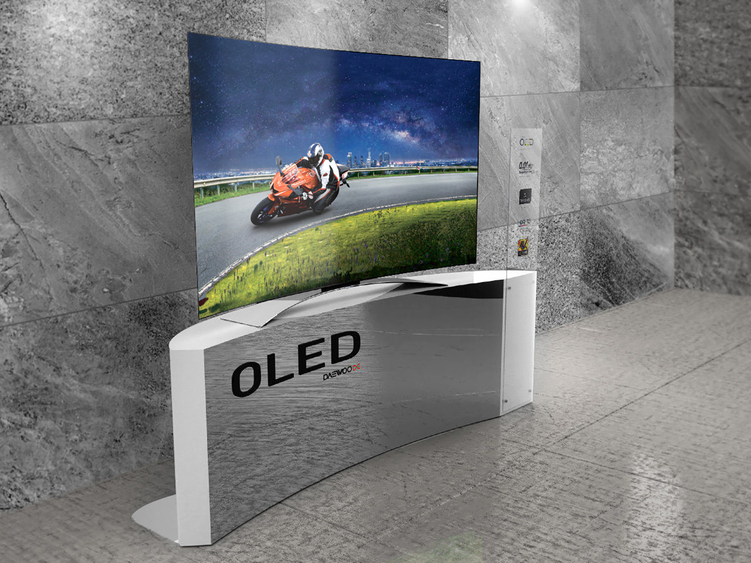 Daewoo OLED TV Advertising Campaign, Copyrighting, Product Stand