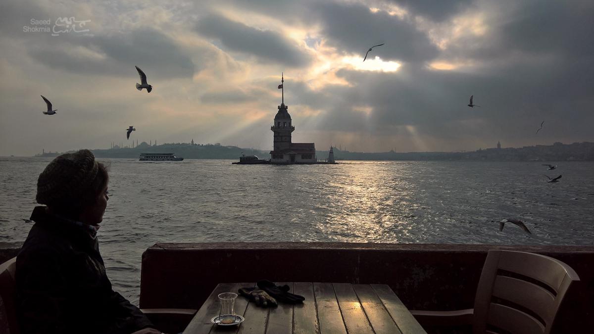 Sea, Photography, Istanbul, Qiz Qalasi, Photo, Girl, Sunset, Birds